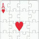 ace of hearts with puzzle effect