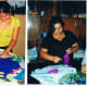 Women at the cooperative working on their arpilleras.