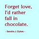 Women loves chocolate