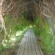The natural use of trees to create tunnels and walkways is superb.