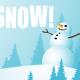 Winter clip art: Snow and snowman