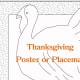 Thanksgiving placemat coloring activity - turkey