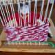 A close up through the loom