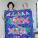 Batik quilt named Squishy Fishy Quilt