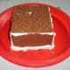 Paste the 2 rectangular Graham Crackers or gingerbread together and paste it on top pf the walls as a ceiling.