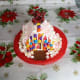 Finished Graham Crackers Gingerbread House.