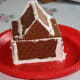 The pre decorated Graham Crackers house.