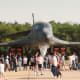 A B-1B on static display at an Andrews AFB, Open House.