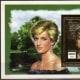 Princess Diana gold foiled souvenir sheet worth about 4$-5$