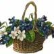 Blue Victorian flower basket * See downloading instructions above