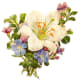 White day lily with assorted Victorian flowers