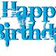 Turquoise happy birthday