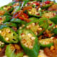 Malaysian Style stir-fried okra with dried shrimp