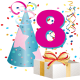 8 year old birthday clipart