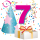7 year old birthday clipart