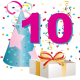 10 year old birthday clipart
