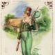 "St. Patrick's Day cards: Irish lad in green pants ""Erin go Bragh"""