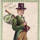 "Saint Patrick's Day cards: Irish lad with bindle ""Erin Go Bragh"""