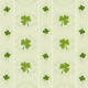 Free scrapbooking paper: Shamrocks and scrollwork on an avocado background