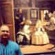Partial view of Las Meninas and my husband