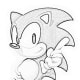 Sonic Pose5 - Sonic Hedgehog Kids Colouring Pictures to Print-and-Colour Online