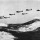 Heinkel 111s over the English Channel.