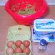 Prepare the eggs, feta, riccotta, sautéed leeks and onions, dill, salt and pepper