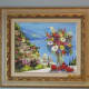 """""""POSITANO VISTA FLOWERS"""", DUAIV, A GICLEE IN COLOR w/ HAND EMBELLISHMENT ON CANVAS, SIGNED (2010)"""
