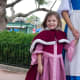 """Disney Belle was very excited to meet """"mini-Belle"""", all dressed for winter. Seeing Disney cast members' reactions to these unique costumes is the biggest driving force to keep making them again and again."""