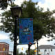Getting closer to Lake Couchiching on Mississauga Street you'll find this banner.