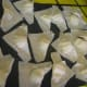 Cream cheese wontons. To make these use 1 tea. of  low-fat, or nonfat cream cheese for the filling.  For Crab Ragoons mix 4 oz. of cream cheese with 4 oz. of  real or imitation crab for the filling.