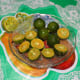 Calamansi (citrus) fruits. Only use 4 pieces. There are 8 pieces here because I used some for the other recipe that I was making.