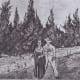 Van Gogh - Zypressenweg mit Liebespaar - Der Garten des Dichters IV. Arles, October 1888 - Oil on Canvas