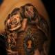 Key hole tattoo