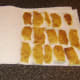 Drying potato skins for deep frying