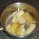 Steeping potato skins