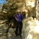 My 73 year old mother rock climbing at Barton Creek Twin Creek Tails, Austin TX
