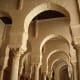 Horseshoe arches inside the Mosque of Uqba, in Kairouan, Tunisia