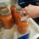 Step 23: Put rings on each of your jars, but tighten the rings only until you get a little bit of resistance.
