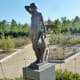 In rose garden section: Dawn Sculpture by Helen Journey ~ Donated by Mrs. Mary Helen Vining in 1971