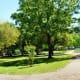 Small paved pathway through Thomas Park