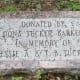 Dedication marker for gazebo