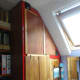 Wardrobe and cupboard folding doors closed