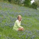 My dear friend in a field of Bluebonnets and Indian Paintbrush