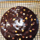 Chocolate cake with a thick dark-chocolate glaze topping