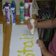 Spelling with dot paint markers