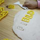 Spelling with salt dough