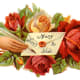 """Roses and Victorian woman's hand """"Many Joys to You"""""""