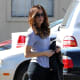 Kate Beckinsale shopping in boots and leggings