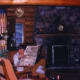 Inside the Stuga...George and Minn's cabin.